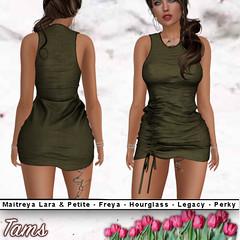 Front Ruched Dress - Celeste