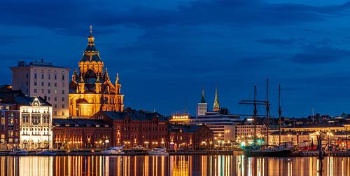 uspenski cathedral helsinki katajanokka tervasaari blue harbour ship city cityscape seaside