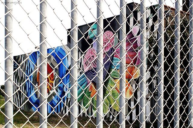 'Fenced' Streetart,  Arnhem, The Netherlands