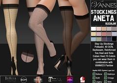 VANNIES Stockings Aneta BiColor