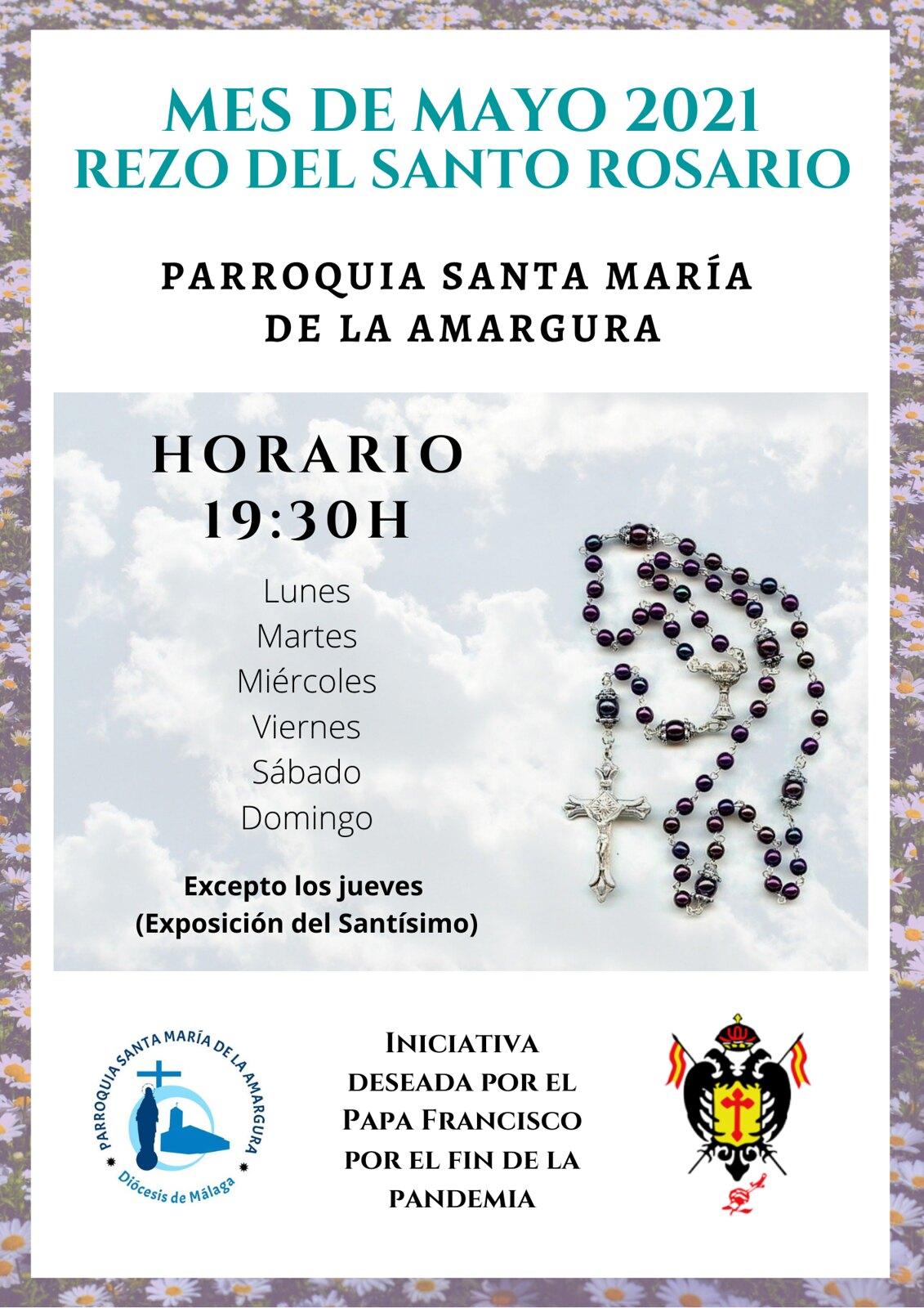 Rezo del Santo Rosario mes de mayo 2021