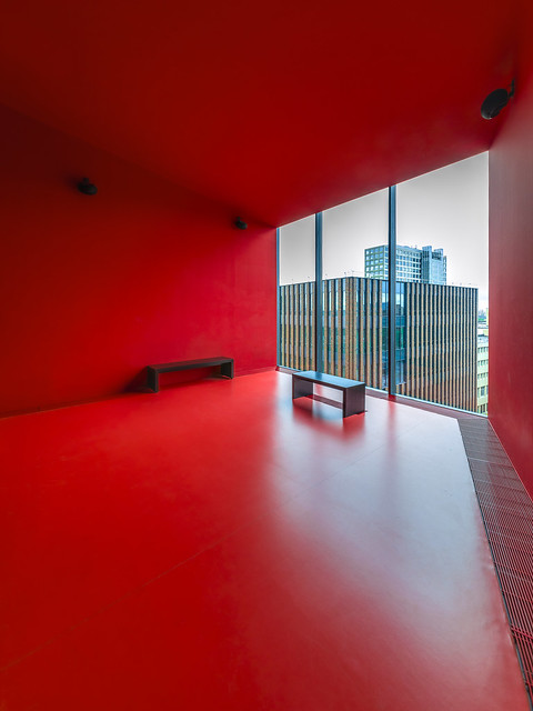 red room with a view