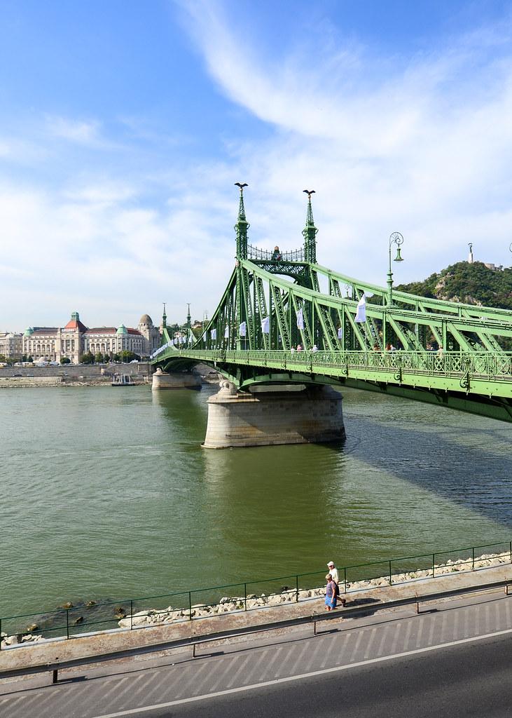 Vista del Puente de la Libertad en Budapest
