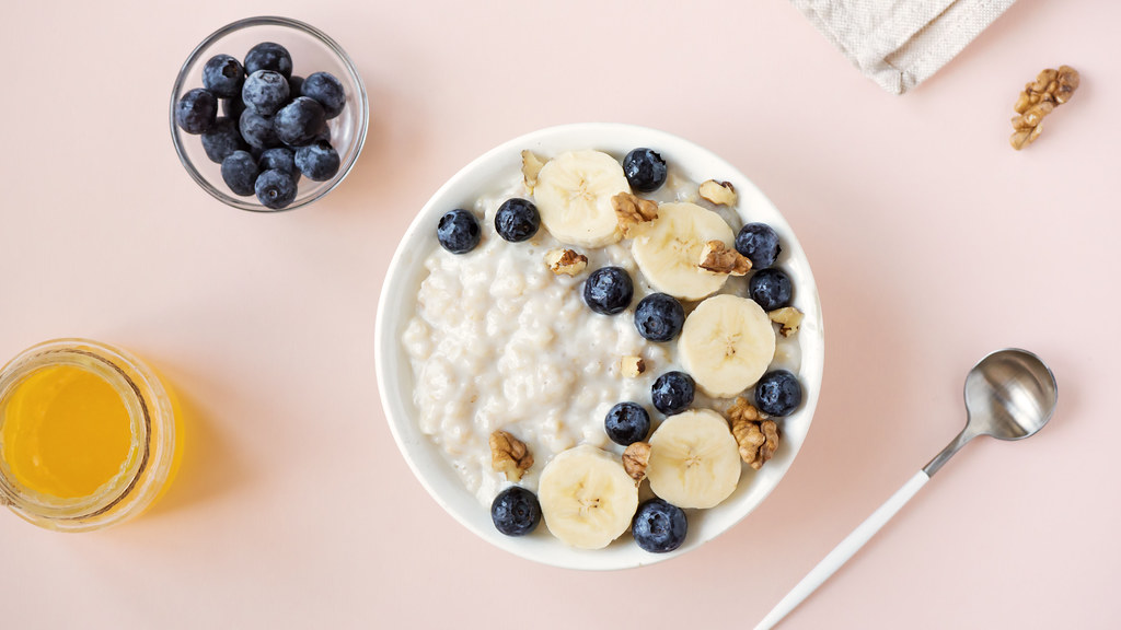Porridge breakfast.