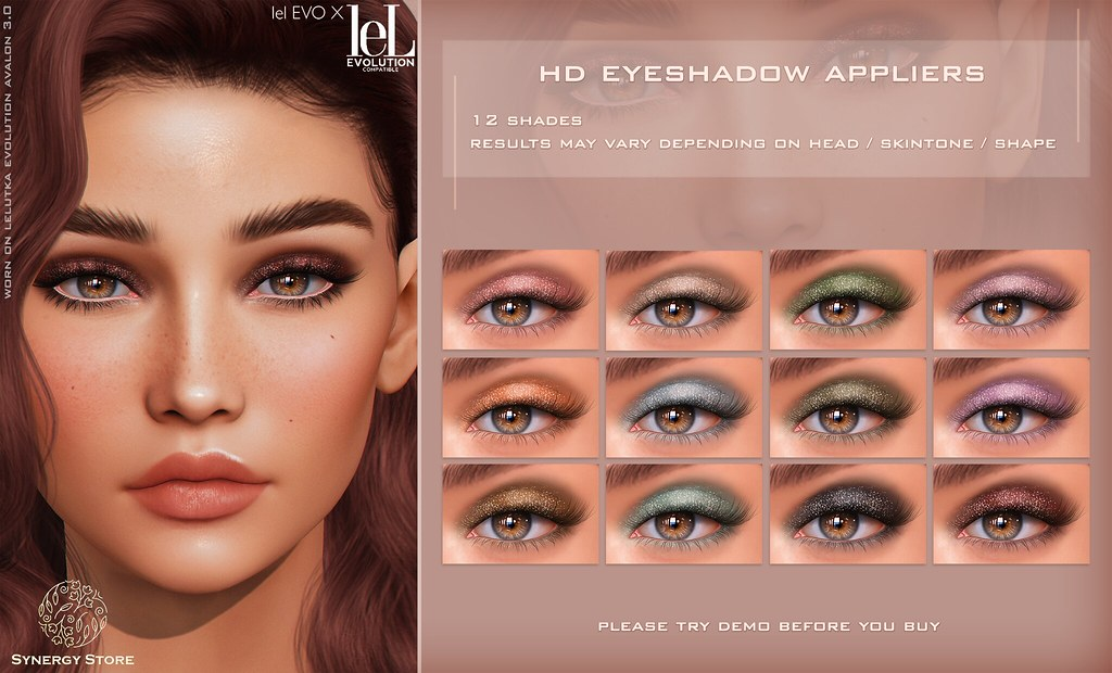 Synergy – Lelutka HD Eyeshadow Applier for EVO/EVO X heads – Brisbane♥