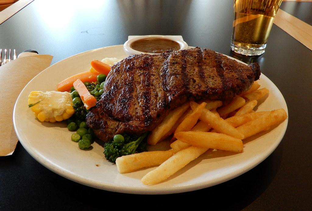 Sirlion Steak, Wenty Leagues, Wentworthville, Sydney, NSW.