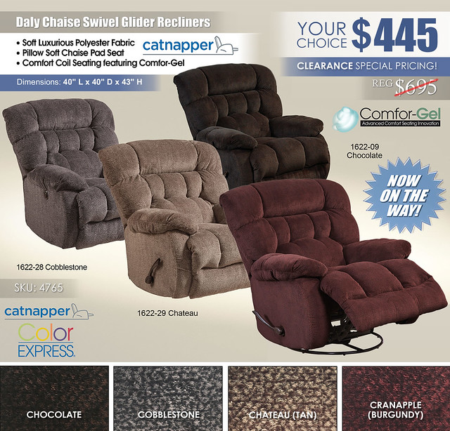 Daly Swivel Glider Recliners_4765 Catnapper_On The Way