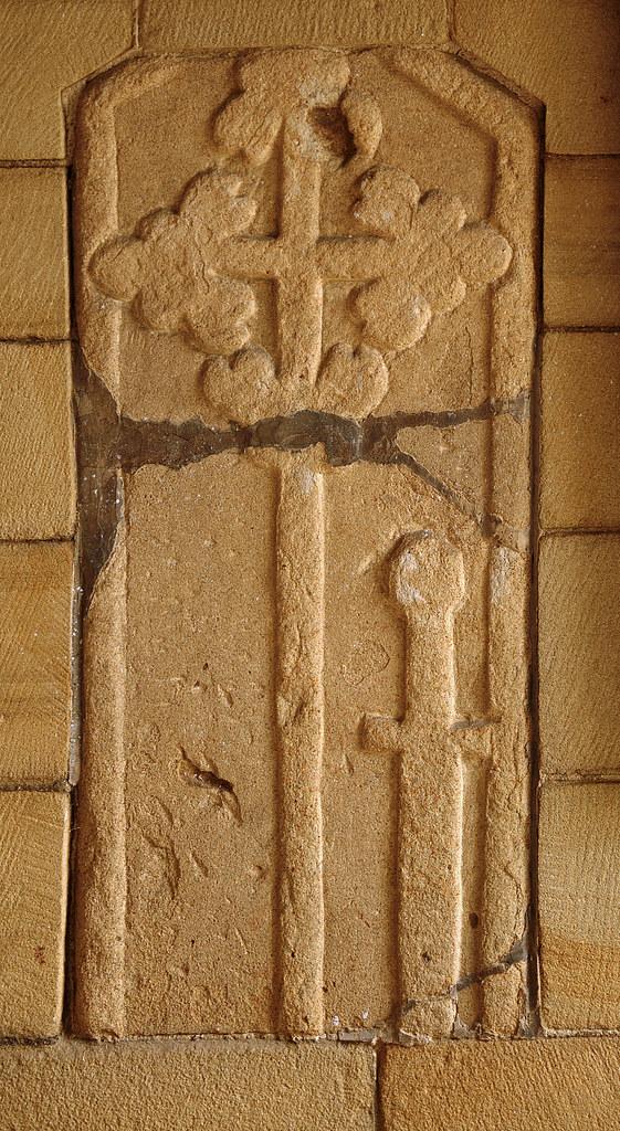 Edensor, Derbyshire, St. Peter's church, exterior, detail