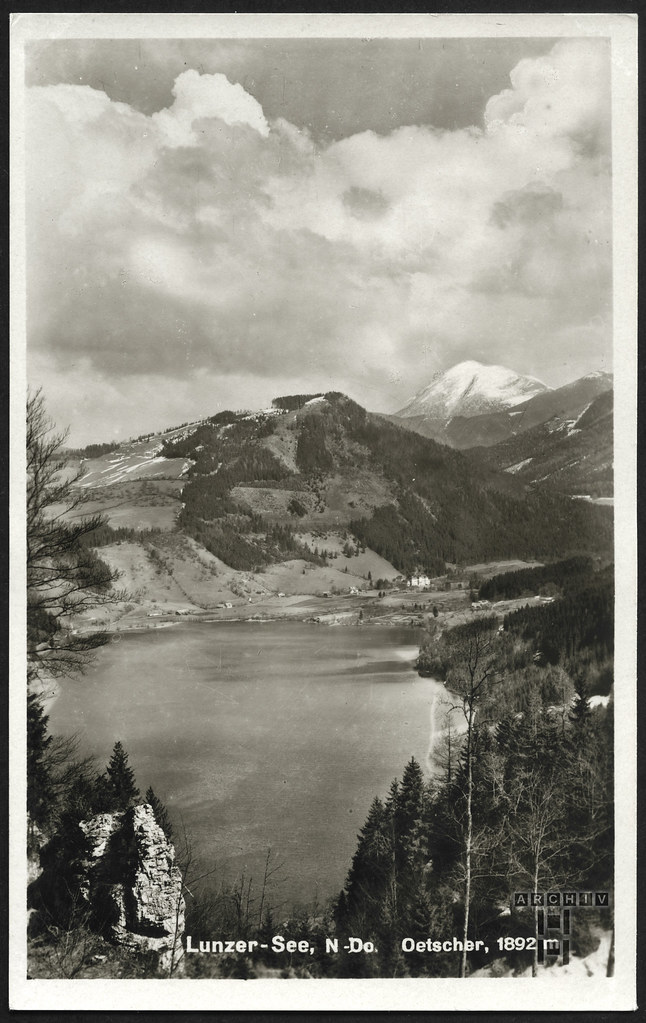 ArchivTappen233AAl3j646 Aufenthaltsort in der K.L.V., Lunzer See, Oetscher, Österreich, 1930-1940er