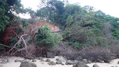 Landslide at St John's Island, Apr 2021