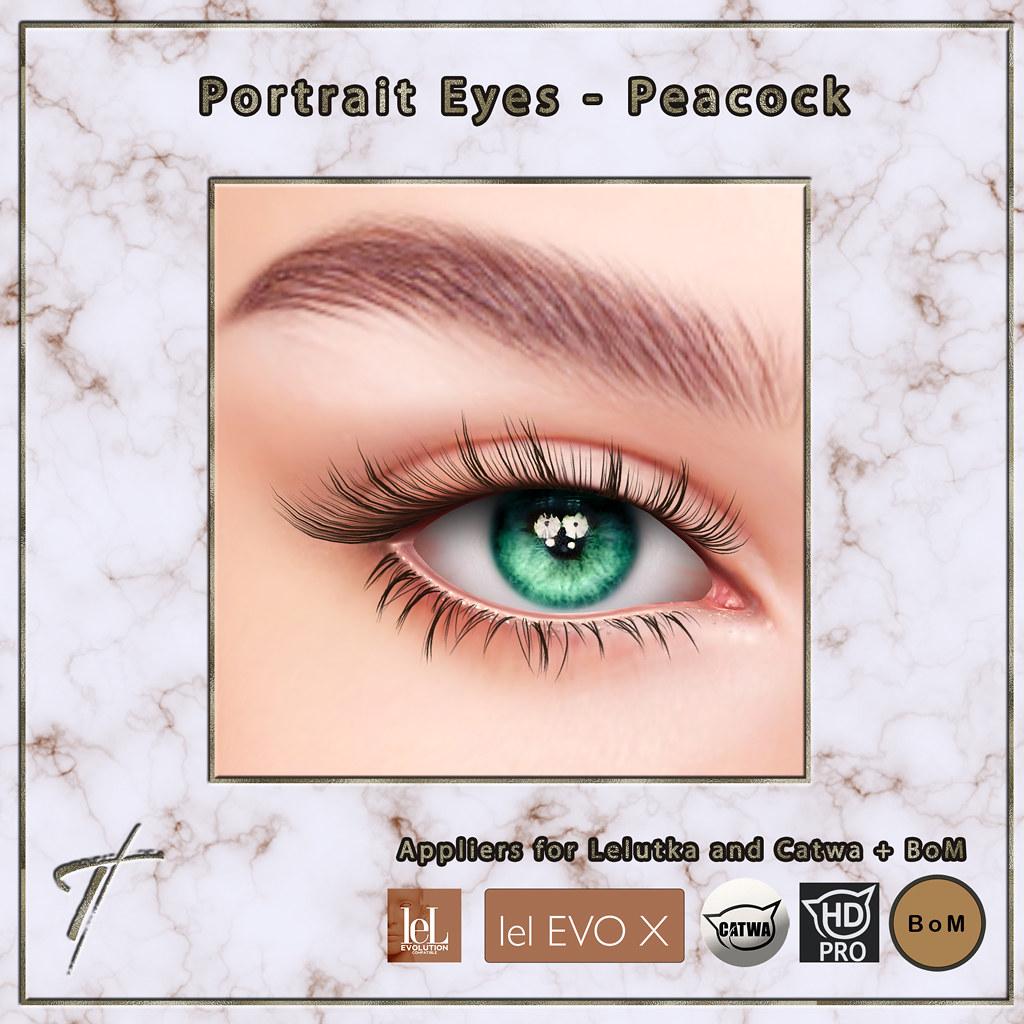 Tville – Portrait Eyes *peacock*