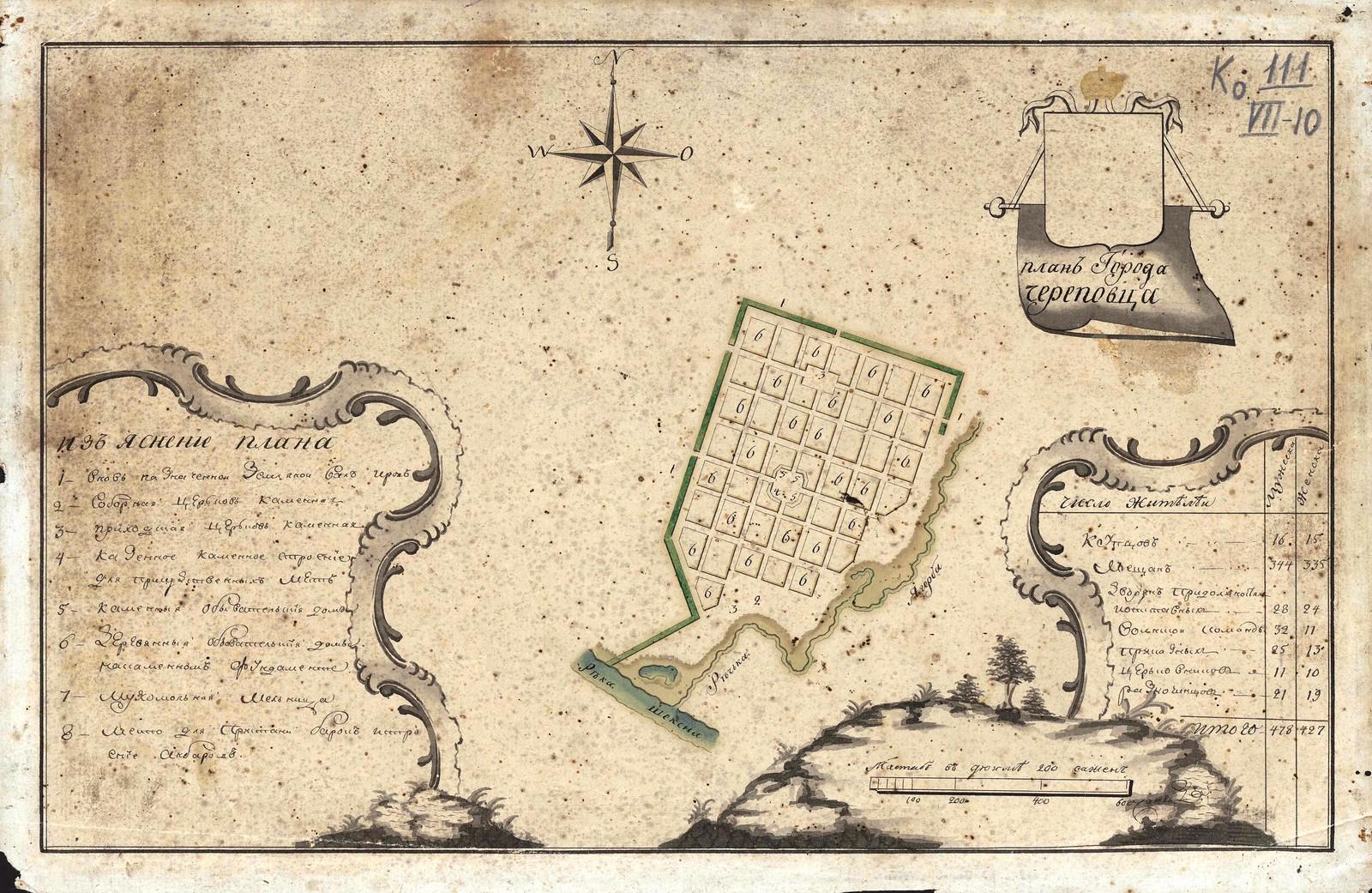 1777. План города Череповца