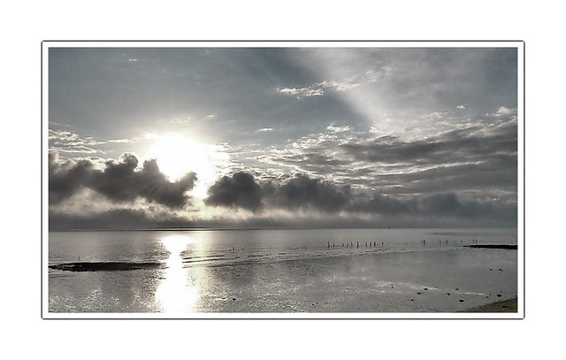 Coucher de soleil sur la Gironde