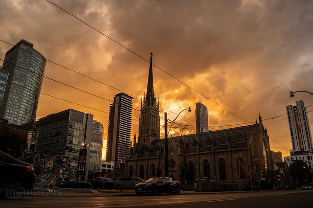 sunset behind clouds | toronto