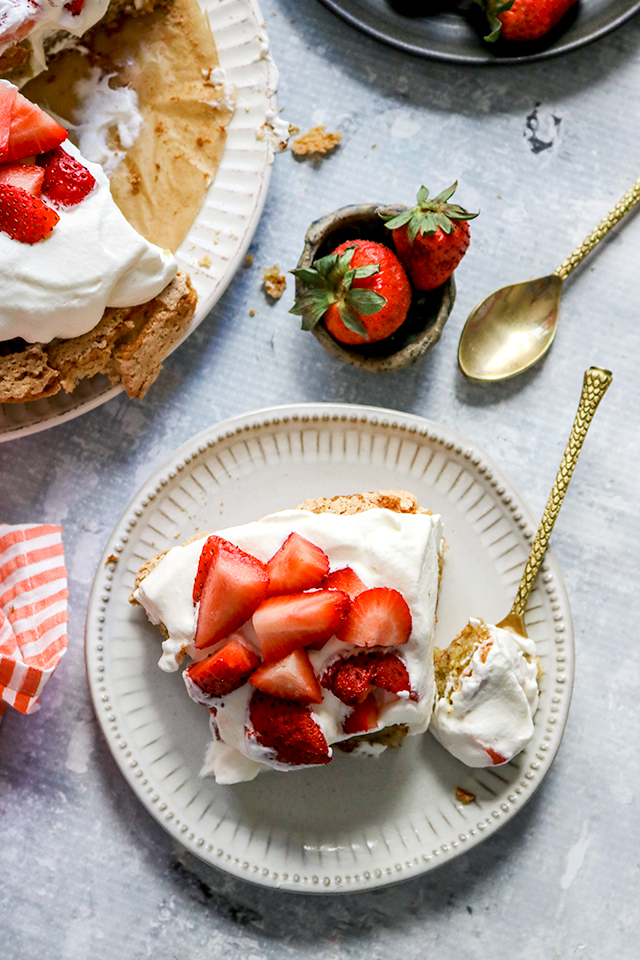 Brown Butter Hazelnut Cake with Fresh Berries and Whipped Cream