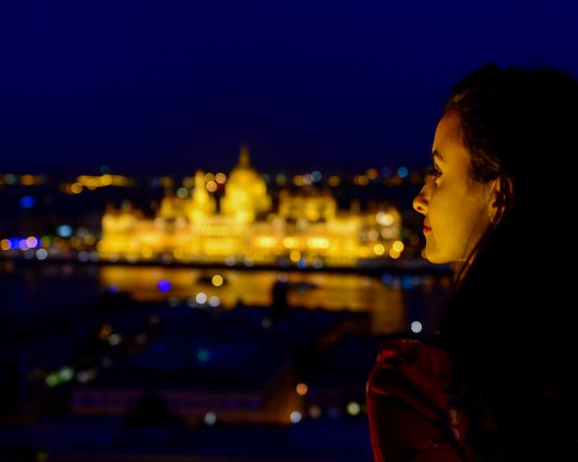 Vistas nocturnas de Budapest