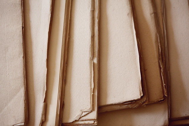 Old Yellowed Paper Pages Wallpaper