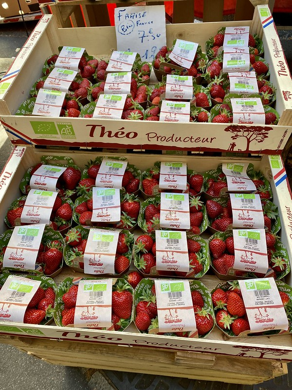 Really expensive organic strawberries
