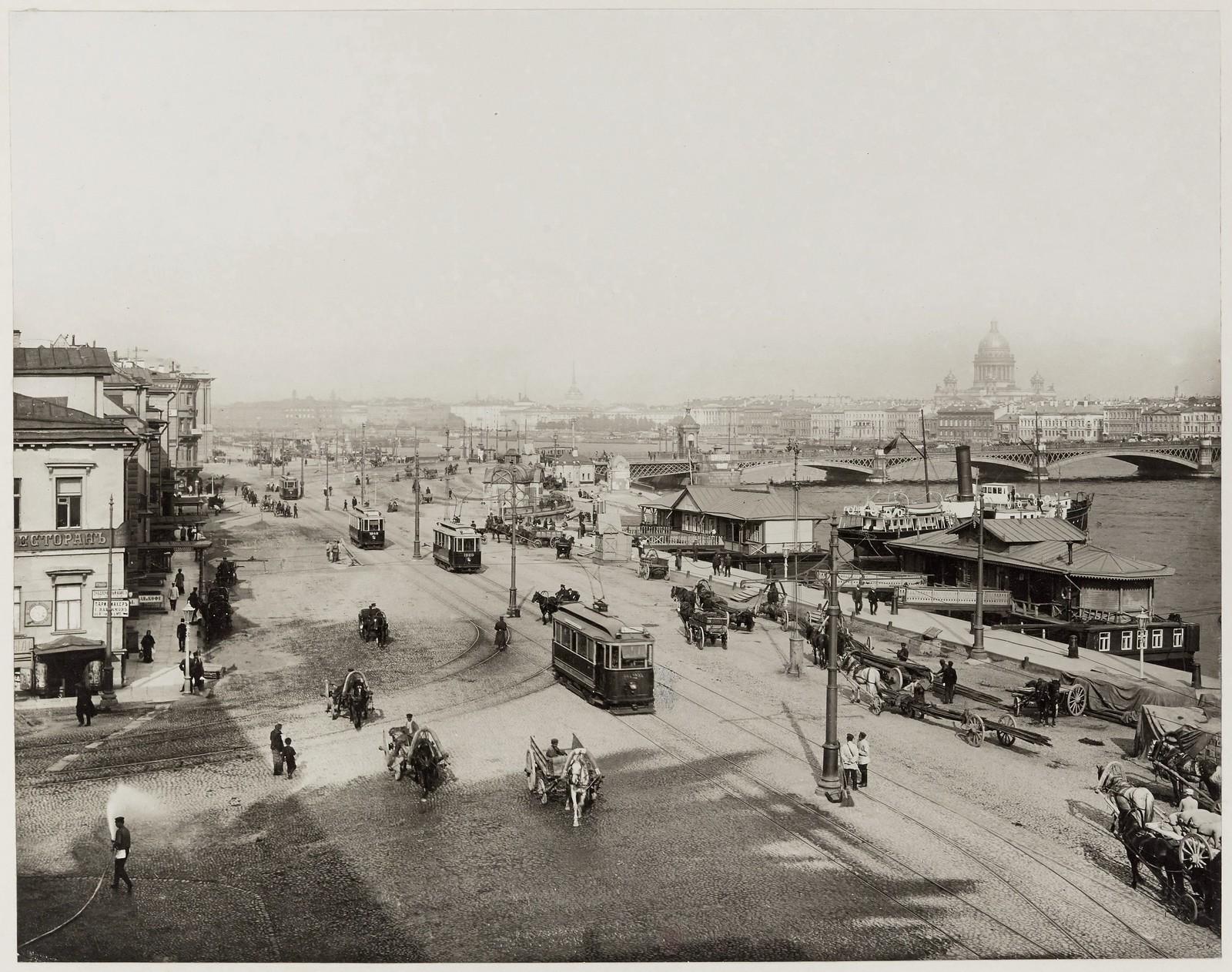 1908. Николаевская набережная и Николаевский мост