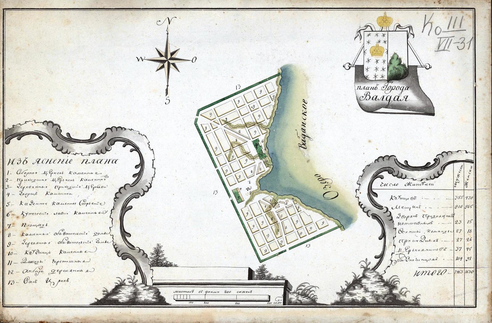 1770. План Города Валдая