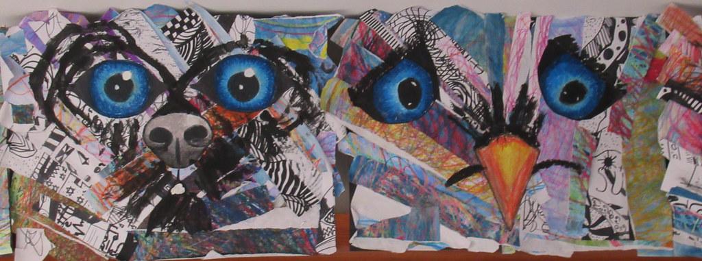Term 5 – Animal Collage Art Work