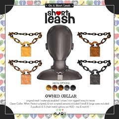 .:Short Leash:. Owned Collar