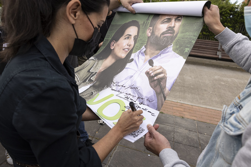 Mitin del 4M de VOX en Leganés con Rocío Monasterio y Javier Ortega Smith