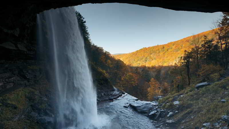 Kaaterskill Waterfall from behind