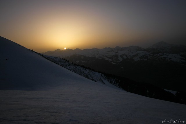 Sunset from Dent de Valerette
