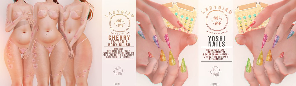 Ladybird. // Cherry Tattoo & Yoshi Nails @ Otacon! ♥