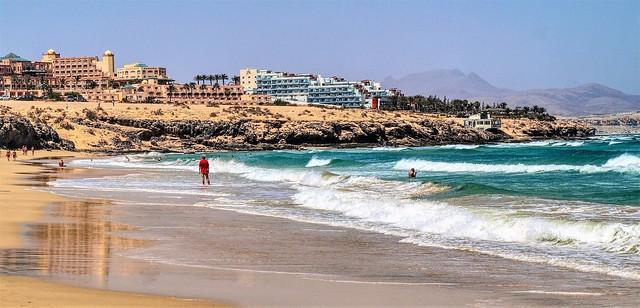 Playa Esmeralda.  Fuerteventura. Islas Canarias.