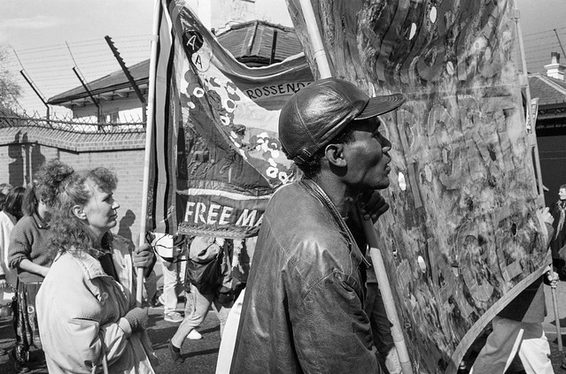 South Africa Freedom Now, March, Anti-Apartheid Movement, Westminster, 25/3/1990, 90-3k-45