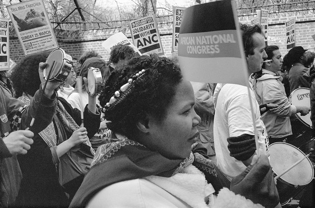 South Africa Freedom Now, March, Anti-Apartheid Movement, Westminster, 25/3/1990, 90-3k-51