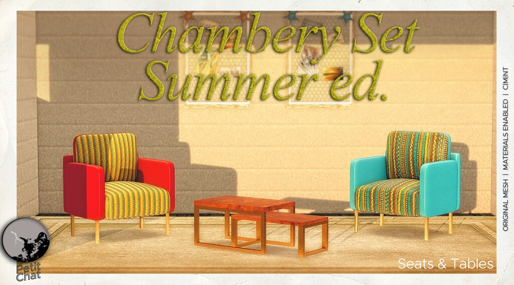 Chambery Set Summer ed : new release and group gift for the month of May @ Petit Chat