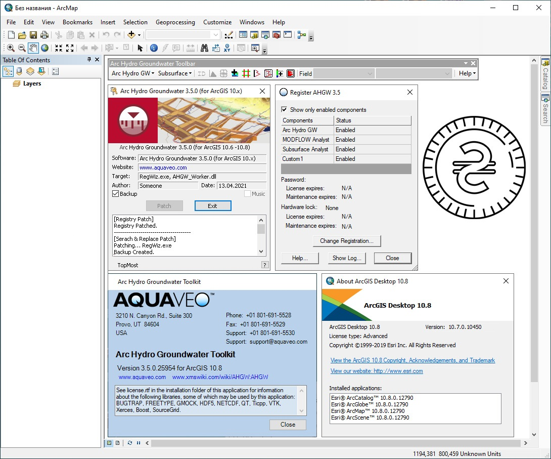 Download Aquaveo Arc Hydro Groundwater Toolkit v3.5.0.25954 for ArcGIS v10.8