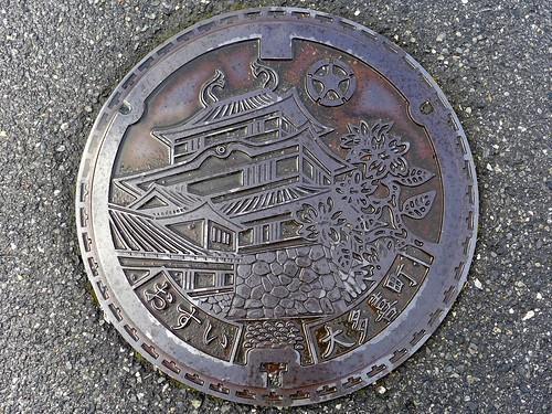 Otaki Chiba, manhole cover (千葉県大多喜町のマンホール)