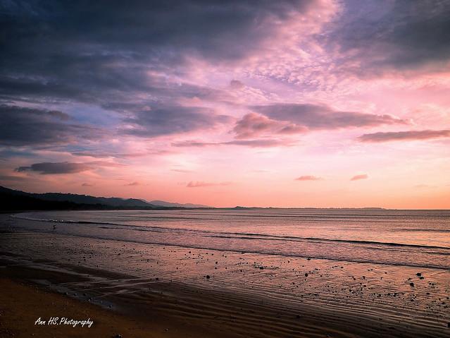 Colors of sunset @ Bangsak beach.