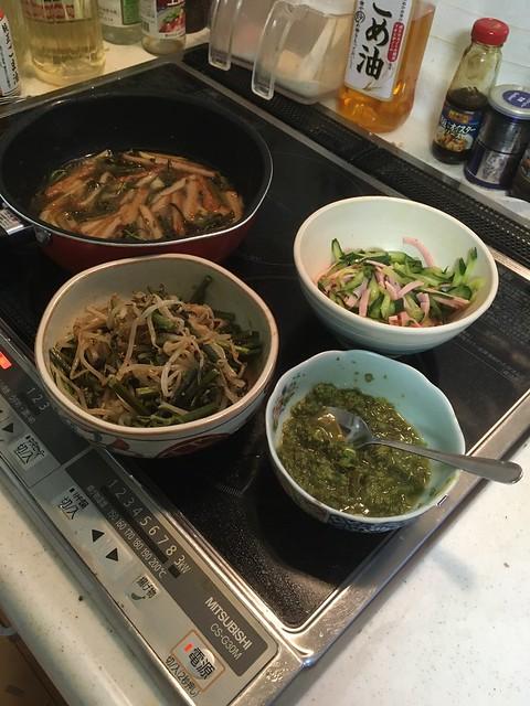 わらび料理三品