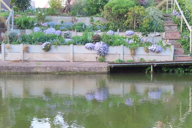Blue Canal Garden Reflected