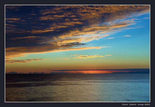 Last sun on the Ligurian Sea
