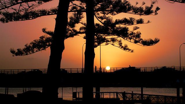 Orange Sunset At Gold Coast, Australia