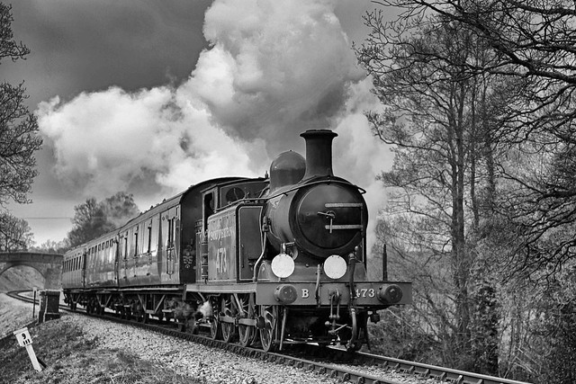 Billinton E4 tank engine no. B473 heads south at Holywell with a short local passenger train