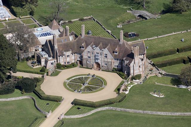 Kelling Hall aerial image - north Norfolk