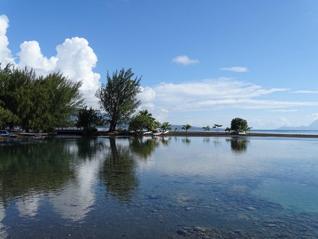La pointe Vénus en baie de Matavai à Tahiti