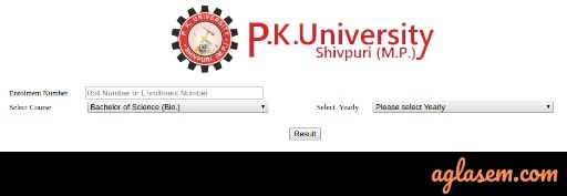 PK University Result