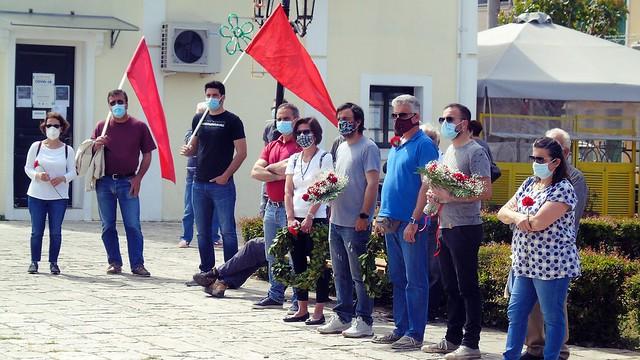 Εργατική Πρωτομαγιά: Κατάθεση στεφάνων στην πλατεία Μαρκά