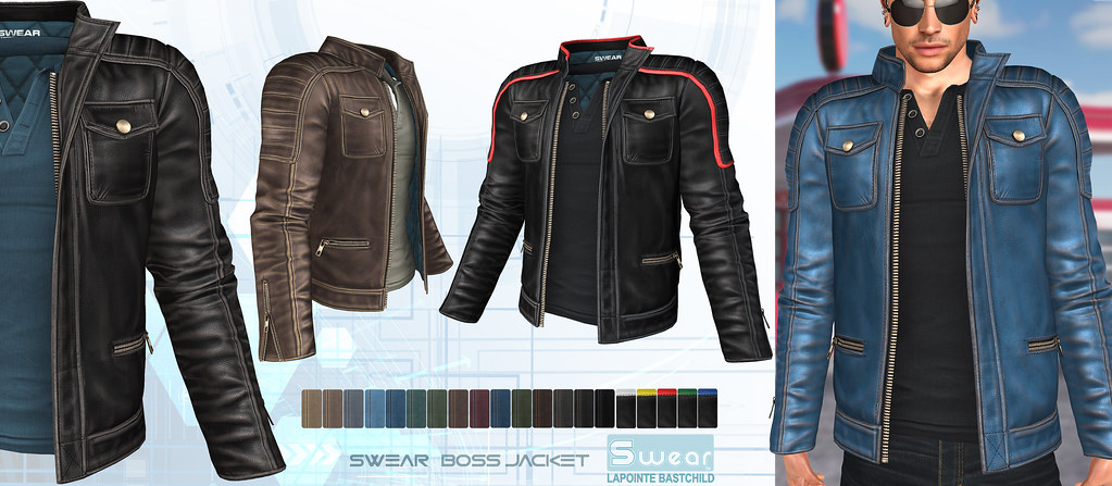 L&B & Fameshed May – Swear Boss Leather Jacket