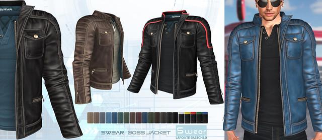 L&B @ Fameshed May - Swear Boss Leather Jacket