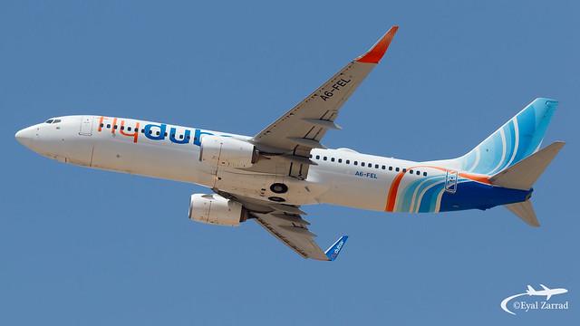 TLV - flyDubai Boeing 737-800 A6-FEL