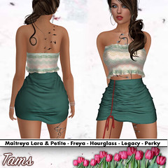 Ruffle Crop Top and Side Ruched Skirt - Fiona